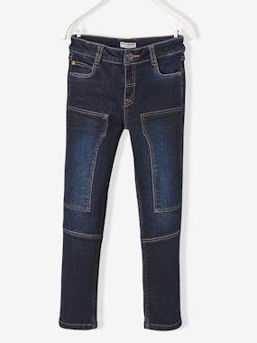 Boys-Jeans-Boys' Slim Cut Trousers in Breathable Denim