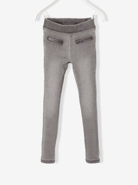 Vertbaudet - Trousers girls boys and babys-Girls' Fleece Jeggings