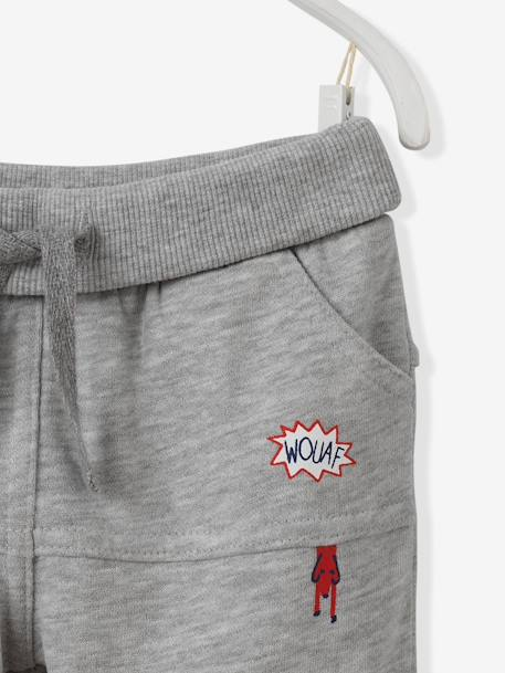 Baby Boys' Fleece Trousers BLUE DARK SOLID+GREY MEDIUM MIXED COLOR - vertbaudet enfant