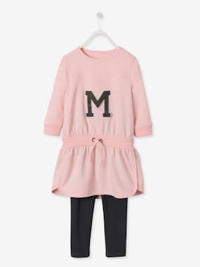 Collection Vertbaudet-Ensemble sport fille robe molleton + legging