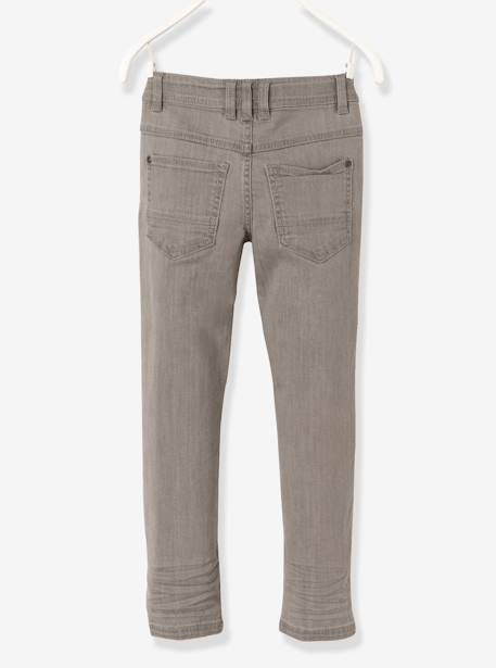 MEDIUM Fit- Boys' Slim Cut Jeans BLUE DARK WASCHED+GREY MEDIUM WASCHED - vertbaudet enfant