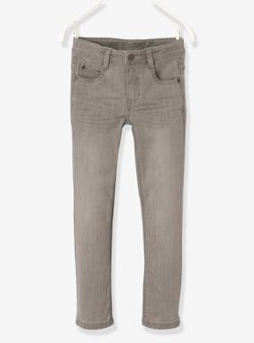 Vertbaudet - Trousers girls boys and babys-WIDE Fit- Boys' Slim Cut Jeans