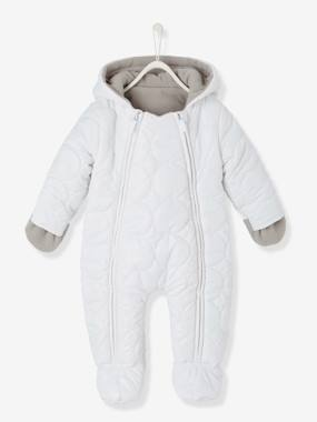 New Collection Fall Winter - Vertbaudet | Quality French Clothes for Babies & Children-BabyPadded All-in-One with Fleece Lining