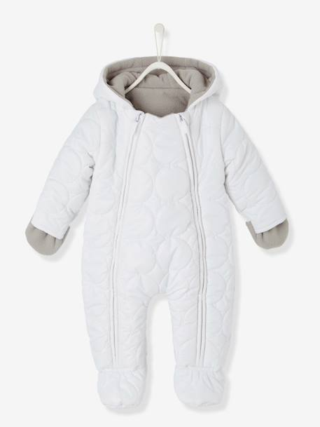 7a68c13e34d0 BabyPadded All-in-One with Fleece Lining - white light solid