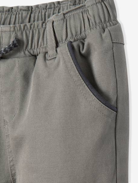 Boys' Trousers with Jersey Knit Fabric Lining BLUE DARK SOLID+GREY DARK SOLID - vertbaudet enfant