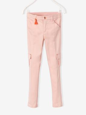 Vertbaudet - Trousers girls boys and babys-Girls' Slim Combat-Style Trousers