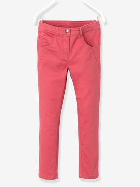 Vertbaudet - Trousers girls boys and babys-Girls-Girls' Indestructible Twill Slim Trousers