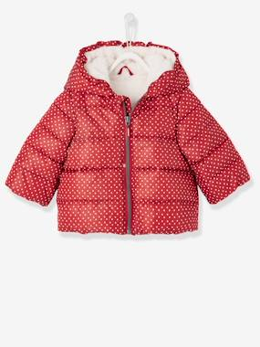 Vertbaudet Collection-Baby Girls' Padded Jacket with Hood