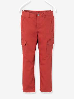 Vertbaudet - Trousers girls boys and babys-Boys' Indestructible Combat-Style Lined Trousers