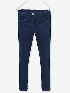 Outlet-MEDIUM Fit - Girls' Velvet Slim Trousers