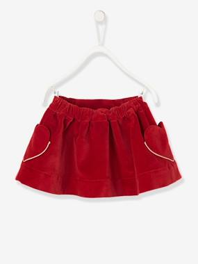 Baby-Dresses & Skirts-Baby's Lined Velour Skirt