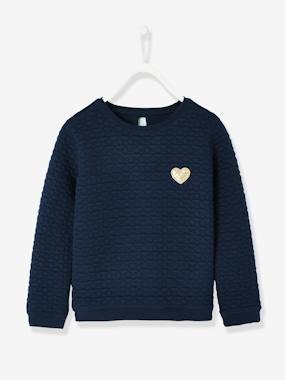 Vertbaudet Collection-Girls' Textured Fleece Sweatshirt