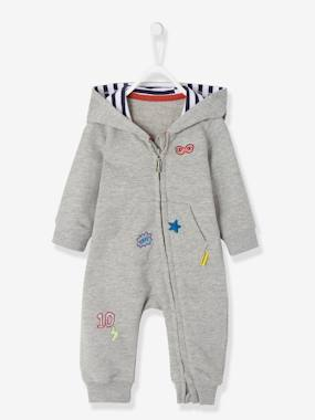 Vertbaudet Collection-Baby Boys' Fleece Jumpsuit