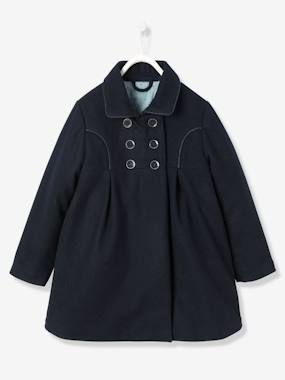 Girl-Girls' Wool Peacoat