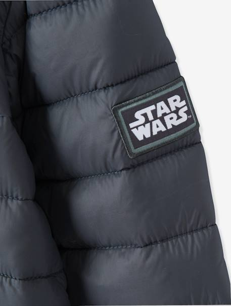 Boys' Light Jacket with Hood, Star Wars® Theme BLACK DARK SOLID WITH DESIGN - vertbaudet enfant