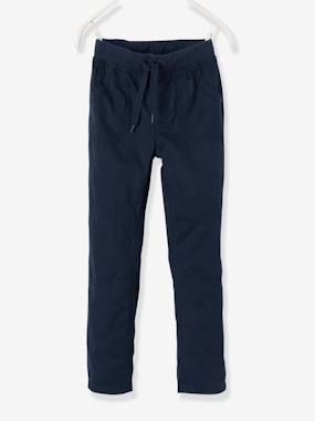 Vertbaudet - Trousers girls boys and babys-Lined Poplin Joggers