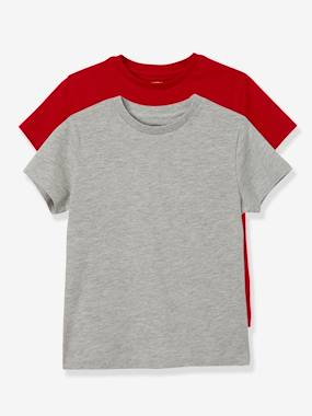 Boys-Tops-Boys' Pack of 2 Short-Sleeved T-Shirts