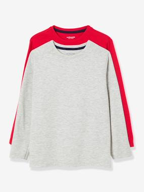Boys-Pack of 2 Long-Sleeved T-Shirts