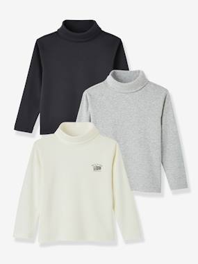 Vertbaudet Sale-Boys-Boys' Pack of 3 Undersweaters