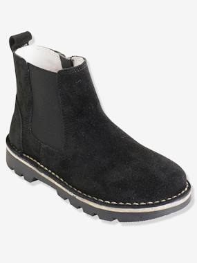 Shoes-Boys' Leather Boots