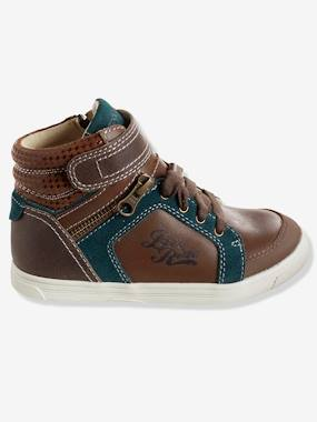 Shoes-Boys Footwear-Shoes-Boys' High Top Leather Trainers