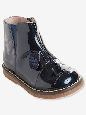 Outlet-Shoes-Girls' Patent Leather Boots