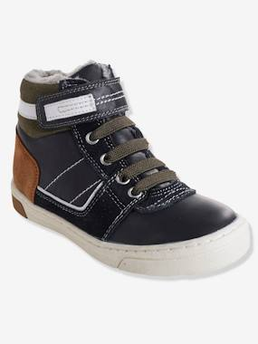 Shoes-Boys Footwear-Shoes-Boys' Leather Boots with Elasticated Laces