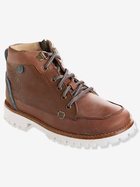 Shoes-Boys Footwear-Shoes-Boys' Leather Boots with Laces