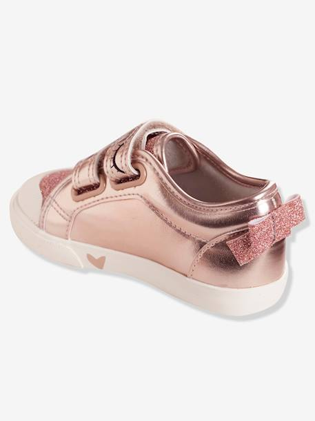 Girls'  Touch 'n' Close Trainers, Autonomy Collection BLUE LIGHT METALLIZED+PINK LIGHT METALLIZED - vertbaudet enfant