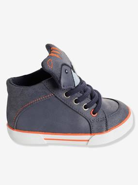 Shoes-Baby Footwear-Boys' High-Top Trainers with Laces
