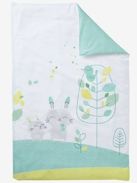 Duvet Cover, Northern Dream Theme White/green - vertbaudet enfant