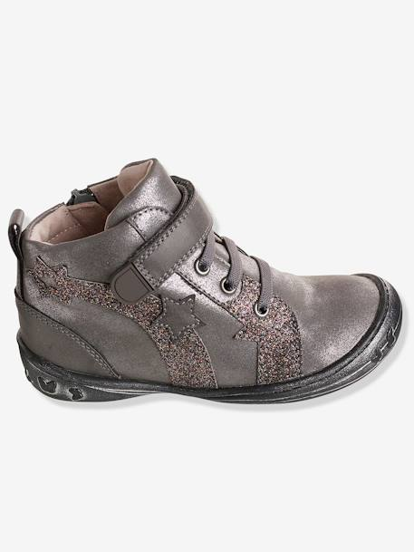 Girls' Boots, Autonomy Collection GREY MEDIUM SOLID - vertbaudet enfant