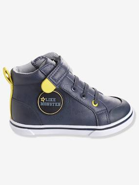 autumn collection-Boys' Leather High-Top Trainers, Autonomy Collection