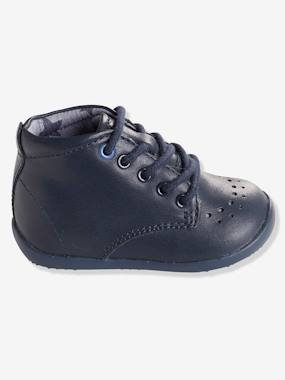 Shoes-Baby Footwear-Boys' Leather Ankle Boots, Designed for First Steps