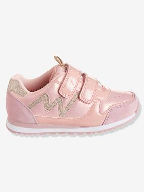 Shoes-Girls' Glittery Trainers with Touch 'n' Close Tabs