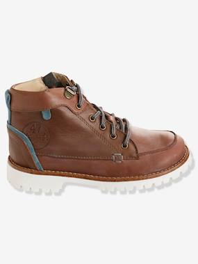 Shoes-Boys' Leather Boots with Laces