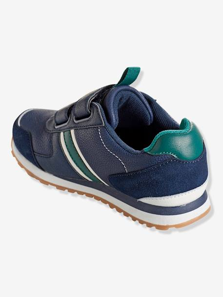 Boys' Touch 'N' Close Trainers BLUE DARK SOLID+GREY LIGHT SOLID - vertbaudet enfant