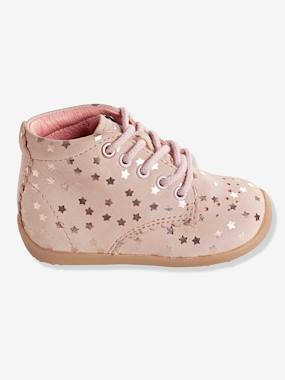 Shoes-Baby Footwear-Girls' Leather Ankle Boots, Designed for First Steps