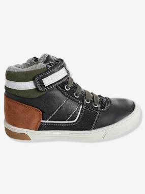 Shoes-Boy shoes 23-38-Boys' Leather Boots with Elasticated Laces