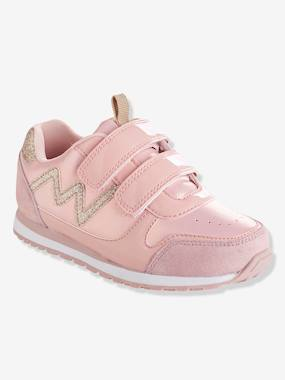 Baskets-Girls' Glittery Trainers with Touch 'n' Close Tabs