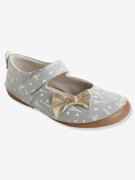 Girls' Shoes with Glow-in-the-Dark Print GREY MEDIUM  ALL OVER PRINTED - vertbaudet enfant