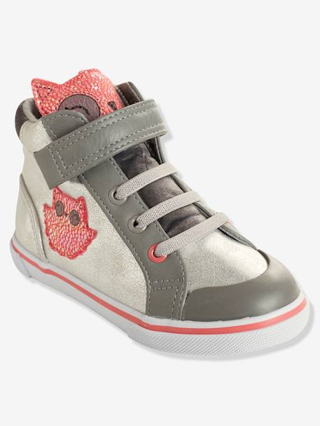 e5b98a2444ad8 Baskets montantes fille collection maternelle Argent - vertbaudet enfant