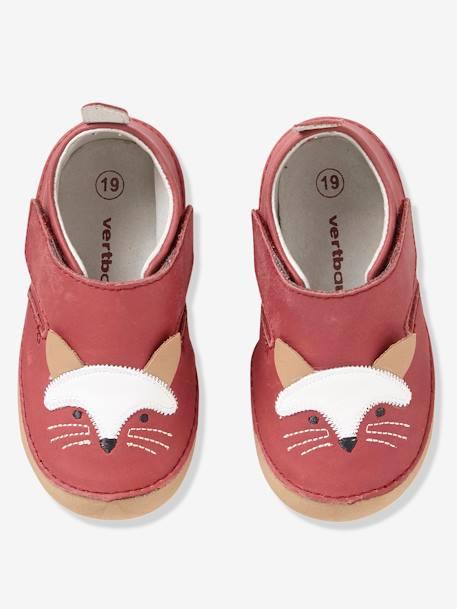 taille 40 08548 6da30 Chaussons bébé cuir souple - rouge, Chaussures