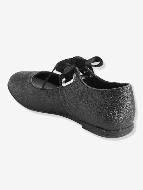 Girls' Ballerinas BLACK DARK SOLID - vertbaudet enfant