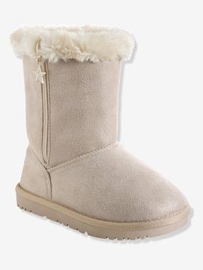 Shoes-Girls' Boots with Fur