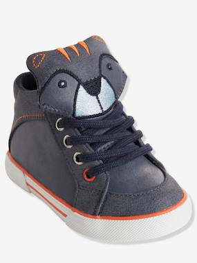 Mid season sale-Shoes-Boys' High-Top Trainers with Laces