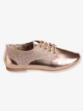 Shoes-Girls' Derby Shoes with Glittery Detail