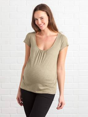 Maternity-T-shirt, top-Maternity T-shirt, Embroidered on the Back