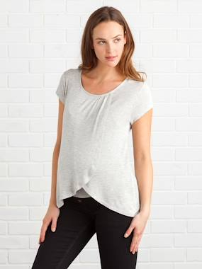 Vertbaudet Collection-Maternity-Maternity & Nursing Cross-Over T-Shirt
