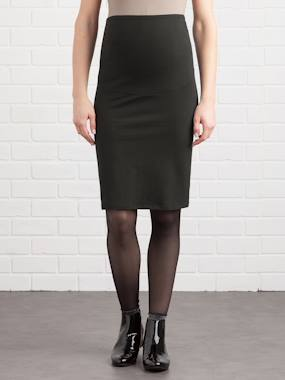 Maternity-Long Maternity Tube Skirt
